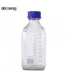 بطری شیشه ای در پیچ دار آبی 1000ml