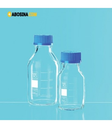 خرید شیشه در پیچ دار آبی آلمان | قیمت شیشه در پیچ دار آبی| فروشگاه تجهیزات آزمایشگاهی