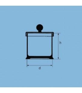 جار دربدار شیشه ای پایه دار لبه سمباده ای TGI آلمان